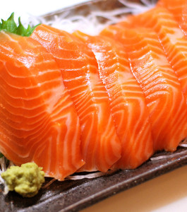 Salmon sashimi from Chile. Photo: Yumi Kimura