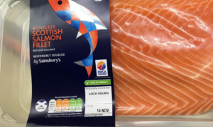 Chilled salmon side from Marine Harvest, in Sainsbury's