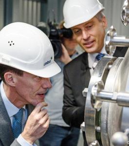 Unibio CEO Henrik Busch-Larsen and Prince Joachim of Denmark